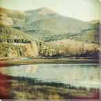 Little Refuge Lake and Forest Scene Wrapped Canvas Giclee Print
