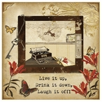 Live it Up Absorbent Beverage Coasters by Grace Pullen, Set of 12