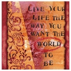 Live Your Life Beverage Coasters by Tamara Holland, Set of 12