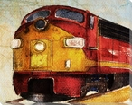 Locomotive 486 Wrapped Canvas Giclee Print Wall Art
