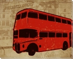 London Commute Bus Wrapped Canvas Giclee Print Wall Art