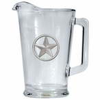 Lone Star Glass Pitcher with Pewter Accent