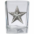 Lone Star Pewter Accent Shot Glasses, Set of 4
