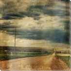 Long Road Wrapped Canvas Giclee Print Wall Art