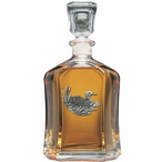 Loon Capitol Glass Decanter with Pewter Accents