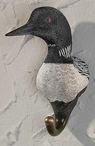 Loon Hand Painted Sculpted Single Wall Hooks, Set of 3