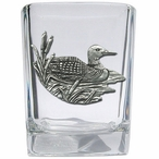 Loon Pewter Accent Shot Glasses, Set of 4
