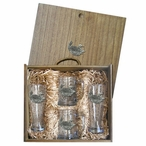 Loon Pilsner Glasses & Beer Mugs Box Set with Pewter Accents