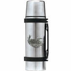 Loon Stainless Steel Thermos with Pewter Accent