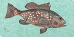 Lounger Red Grouper Fish Wrapped Canvas Giclee Print Wall Art