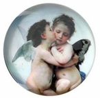 Love and Psyche Glass Paperweight by Bouguereau