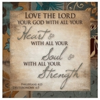 Love the Lord Absorbent Beverage Coasters, Set of 12