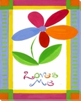 """Loves Me"" with Flower Wrapped Canvas Giclee Print Wall Art"