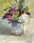 Lydia's Bouquet of Flowers Wrapped Canvas Giclee Print Wall Art
