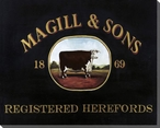 Magill & Sons Registered Herefords Cows Wrapped Canvas Print