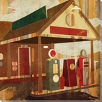 Main Street Service Two Gas Pumps Wrapped Canvas Giclee Print Wall Art