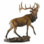 Majesty Elk Hand Painted Sculpture
