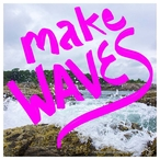 Make Waves Absorbent Beverage Coasters, Set of 12