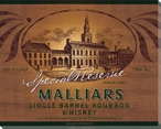 Malliars Bourbon Whiskey Wrapped Canvas Giclee Print Wall Art