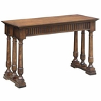 Manchester 6 Turned Post Oak Wood Console Table