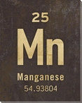 Manganese - Periodic Table of Elements Wrapped Canvas Giclee Art Print