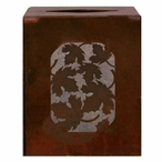 Maple Leaf Metal Boutique Tissue Box Cover