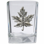Maple Leaf Pewter Accent Shot Glasses, Set of 4