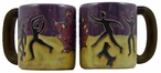 Mara Stoneware Round Mug 16oz - Fire Dancer