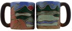 Mara Stoneware Round Mug 16oz - Mountains