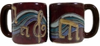 Mara Stoneware Round Mug 16oz - Music Notes
