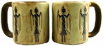 Mara Stoneware Round Mug 16oz - Yei Indian Figures