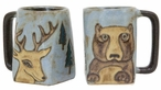 Mara Stoneware Square Mug 12oz - Bear & Deer