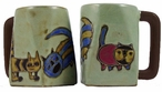 Mara Stoneware Square Mug 12oz - Cats 1