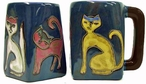 Mara Stoneware Square Mug 12oz - Cats 2