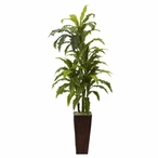 Margarintum Silk Plant with Bamboo Planter