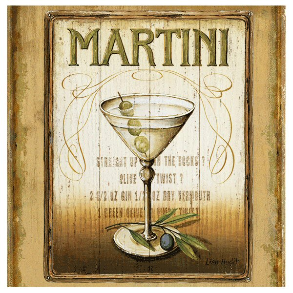 Martini absorbent beverage coasters by lisa audit set of 8 drink coasters thirstystone - Drink coasters absorbent ...