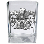Mask Pewter Accent Shot Glasses, Set of 4