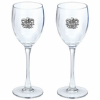 Mask Pewter Accent Wine Glass Goblets, Set of 2