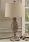 McCoy Resin Table Lamp with Linen Shade