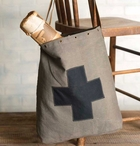 Medic Bag Canvas and Leather Tote Bag with Grommets