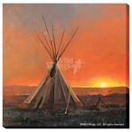 Medicine Man Lodge Teepee Wrapped Canvas Giclee Print Wall Art