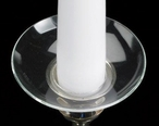 Medium Deep Dish Bobeche Glass Candle Wax Catchers, Set of 12