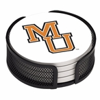 Mercer Bears Beverage Coasters with Mesh Holders, Set of 10