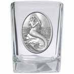 Mermaid Pewter Accent Shot Glasses, Set of 4