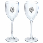 Mermaid Pewter Accent Wine Glass Goblets, Set of 2