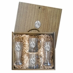 Mermaid Pilsner Glasses & Beer Mugs Box Set with Pewter Accents