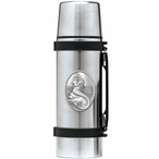 Mermaid Stainless Steel Thermos with Pewter Accent