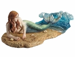 Mermaid Waiting on a Beach Sculpture by Selina Fenech