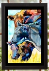 Merry Mooers Cows Stained Glass Wall Art