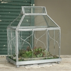 Metal and Glass Table Top Terrarium